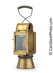 Vintage lamp isolated on a white background