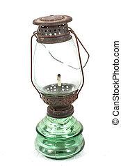 Vintage lamp isolated on white background
