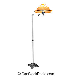 Vintage lamp isolated on white with clipping path
