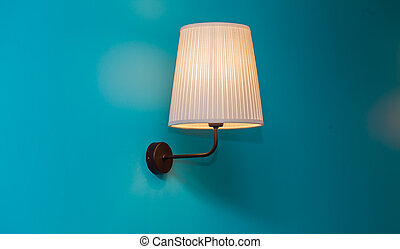 vintage lamp on the wall