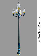 vintage lamp posts isolated