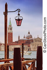 Vintage lamppost in Venice, Italy