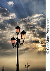 Vintage lamppost.
