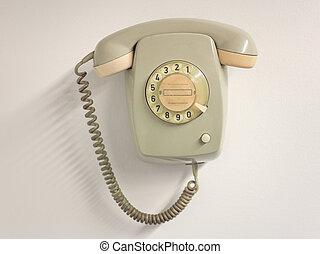 Vintage landline telephone