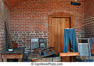 Vintage laundry room, Fort Clinch