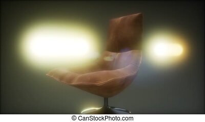 vintage leather armchair boss on a black background