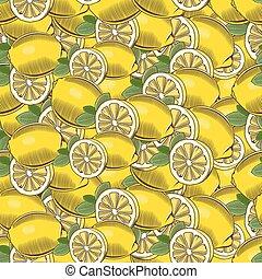 Vintage Lemon Seamless Pattern