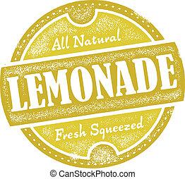 Distressed vector lemonade graphic.
