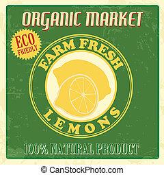 Vintage lemons poster