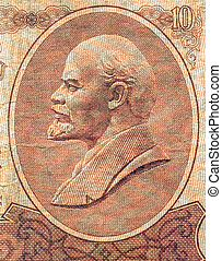 Vintage Lenin - Vintage looking Portrait of Lenin on a ...