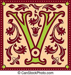 vintage letter V