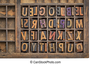 wood type printing blocks