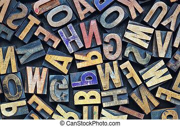 letterpress wood type printing blocks