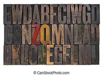 vintage letterpress wood type