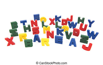Vintage letters from the alphabet