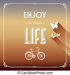 Vintage life style elements poster.