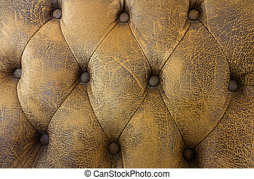 vintage light brown sofa texture, Pattern brown leather sofa background