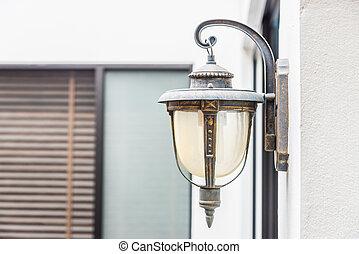 Vintage light lamp on wall