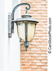 Vintage light lamp on wall