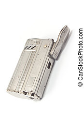 Vintage lighter isolated on white