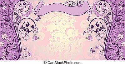 Vintage lilac background