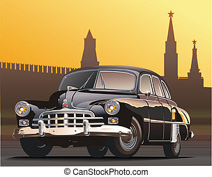 vintage limousine. Available EPS-8 vector format separated...