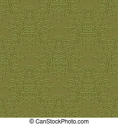 Vintage linear damask pattern with thin lines
