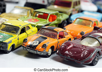 Vintage little toy cars - Group of vintage little toy cars