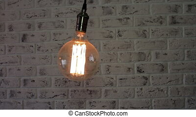 Vintage Loft lamp swinging