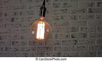 Vintage Loft lamp swinging