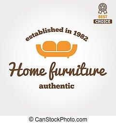 Vintage logo, badge,emblem or logotype for furniture shop -...