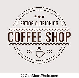 Vintage logo. Coffee shop template. Restaurant label....