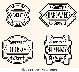 Vintage Logo Design Elements Vector