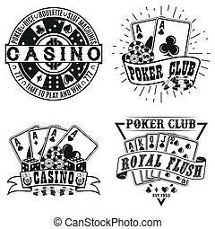 vintage logo design - Set of Vintage casino logo designs,...
