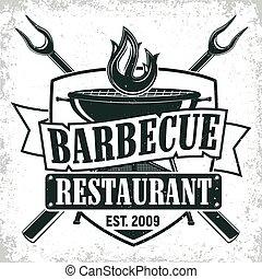 vintage logo design - Vintage barbecue restaurant logo ...