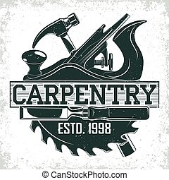 vintage logo design - Vintage woodworking logo design, ...