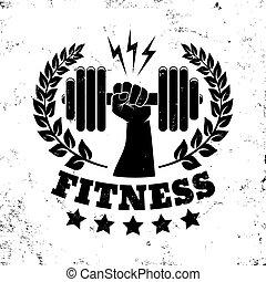 vintage logo for fitness
