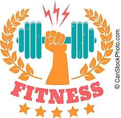vintage logo for fitness club