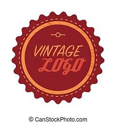 Vintage logo label