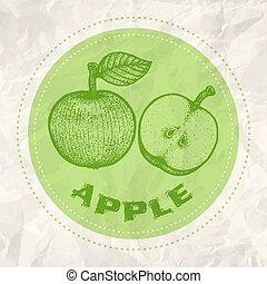 Vintage logo of apple