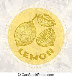 Vintage logo of lemon