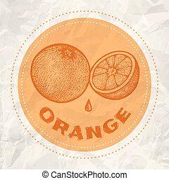 Vintage logo of orange