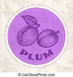 Vintage logo of plum