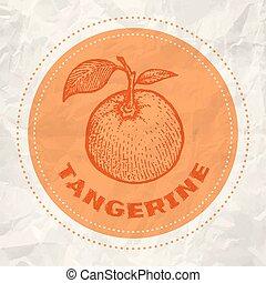 Vintage logo of tangerine