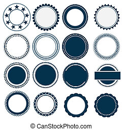 vintage logo set vector - image of Vintage Labels set. Badge...
