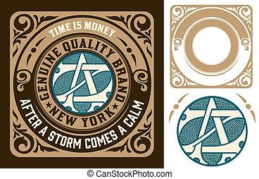 vintage logo template, Hotel, Restaurant, Business or Boutique I
