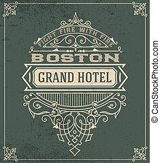 Vintage logo templates. vecror file