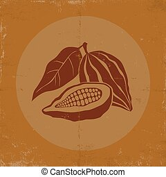 Vintage logo with cocoa