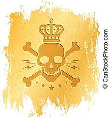 Vintage logo with skull