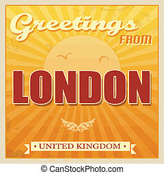 Vintage London, United Kingdom poster